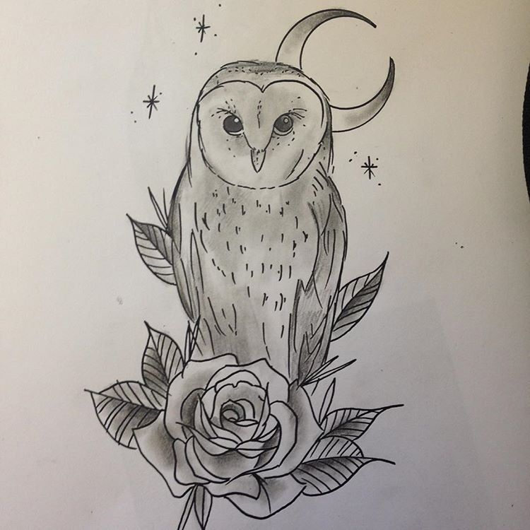 Quick Barn Owl Sketch Would Make A Pretty Awesome Tattoo Barnowl Owltattoo Neotraditional Owl Sketch Barn Owl Cool Tattoos