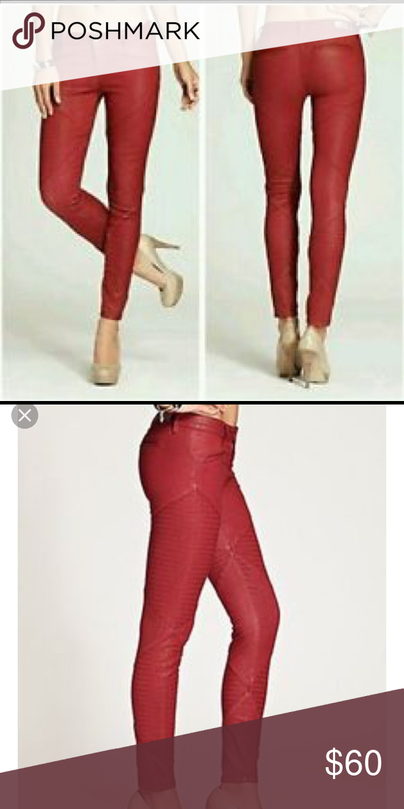 00cbd85eccbac Guess Brittney diamond panel red leggings 29 Great condition, super sexy pants  Guess Pants Skinny