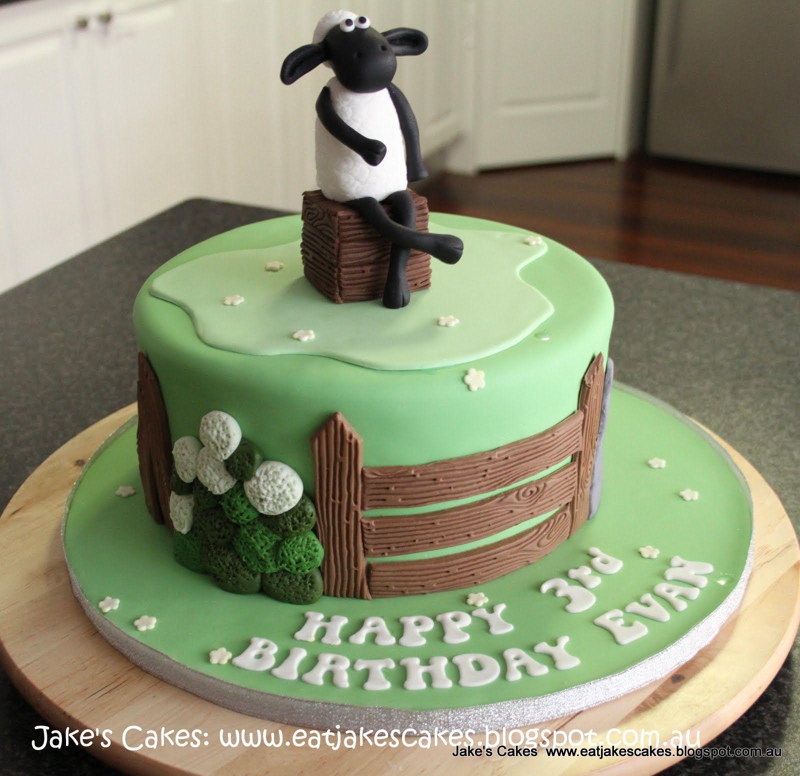 Shawn The Sheep Birthday Cake Lia Birthday 4 Pinterest