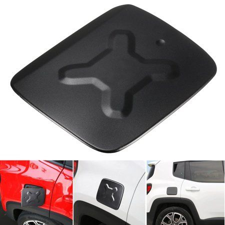 7 5x6 Inch Black Aluminum Fuel Filler Vehicle Parts Accessories Door Cover Gas Tank Cap For Jeep Ren Jeep Renegade 2015 Jeep Renegade Jeep Renegade Trailhawk