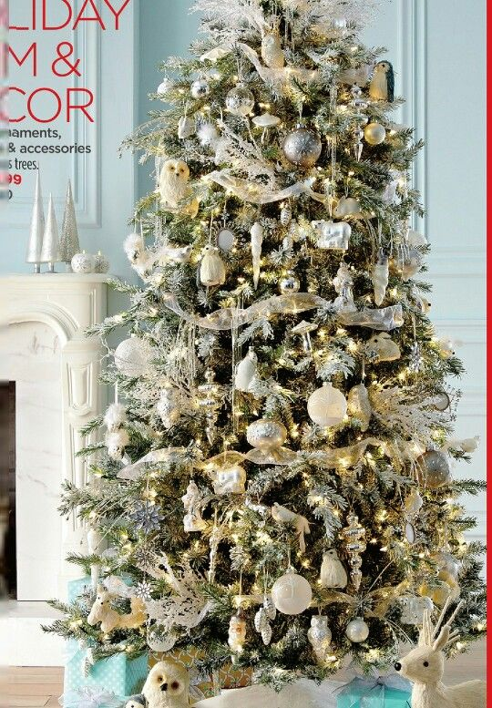 White and gold and silver christmas tree h o l i d a z e for White and gold tree decorations