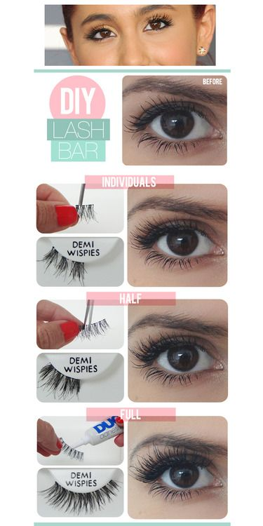 how to put eyelash fake