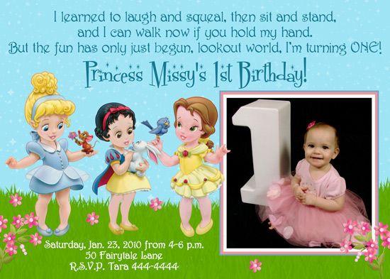 baby 1st birthday disney princesses banners Princess Birthday