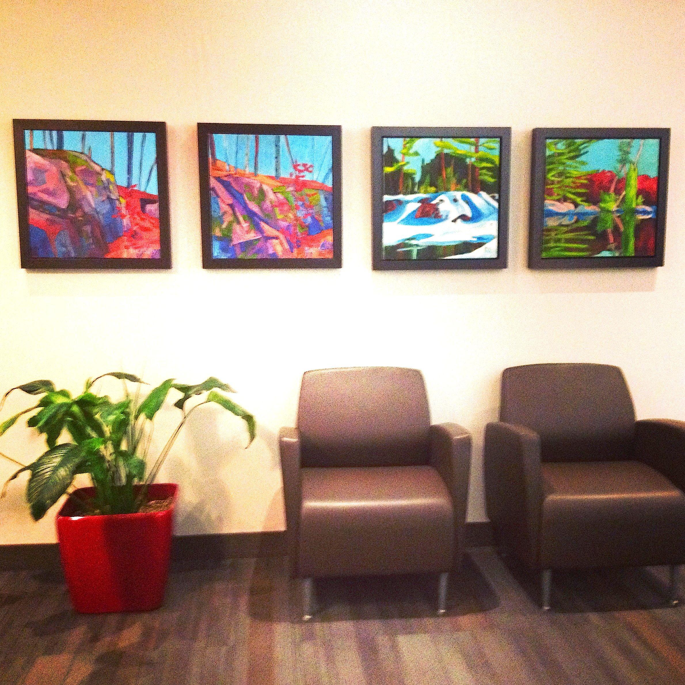 Office lobby, artwork by David Casey. Ottawa artist, Canadian artist, landscape painter.