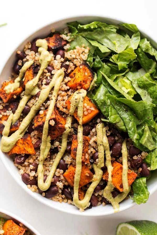 Roasted Sweet Potato + Black Bean Quinoa Salad - So you guys….are you feeling the Cinco de Mayo v