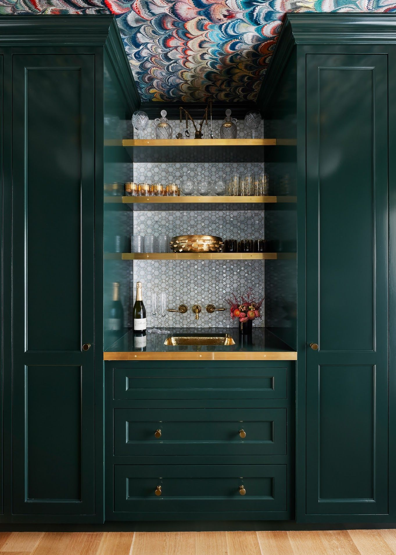 11 Best Green Paint Colors For Cabinetry According To Experts Dark Green Kitchen Green Kitchen Cabinets Green Paint Colors