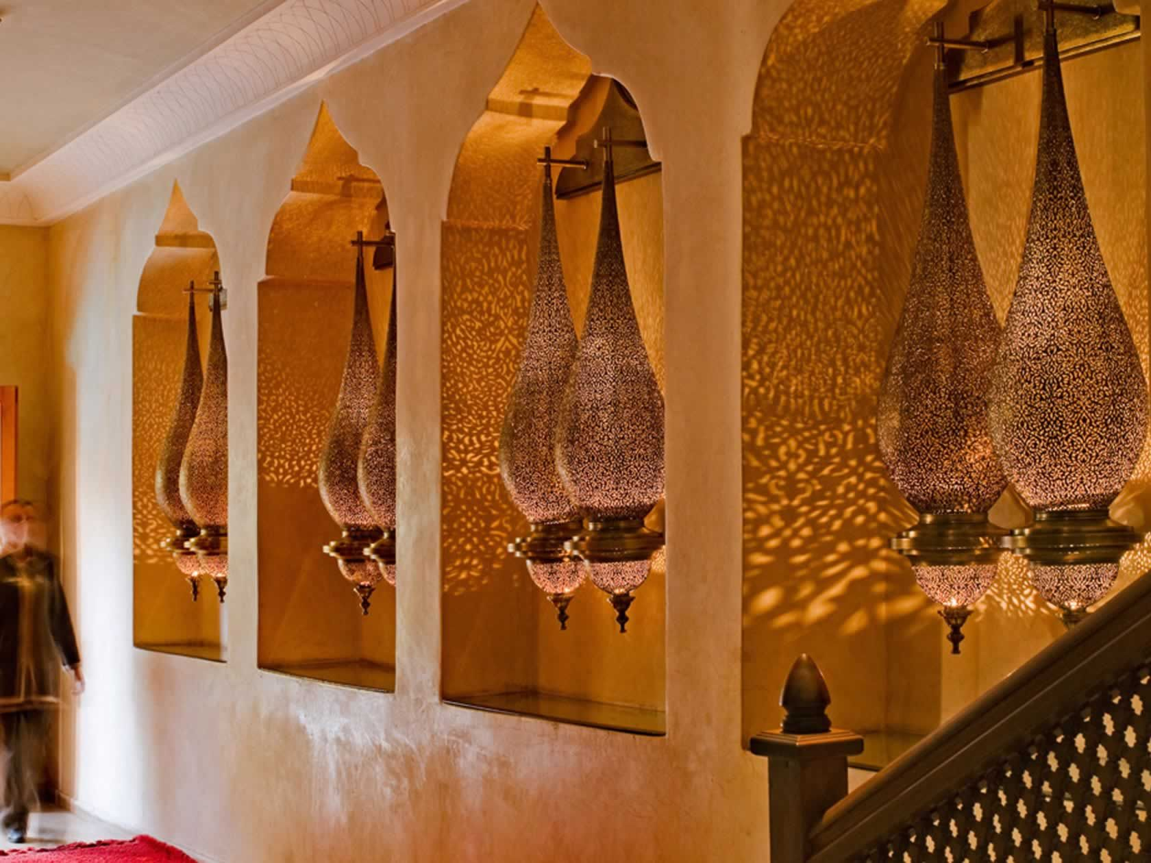 Arabic style decor hotel la maison arabe http www for Architecture maison arabe