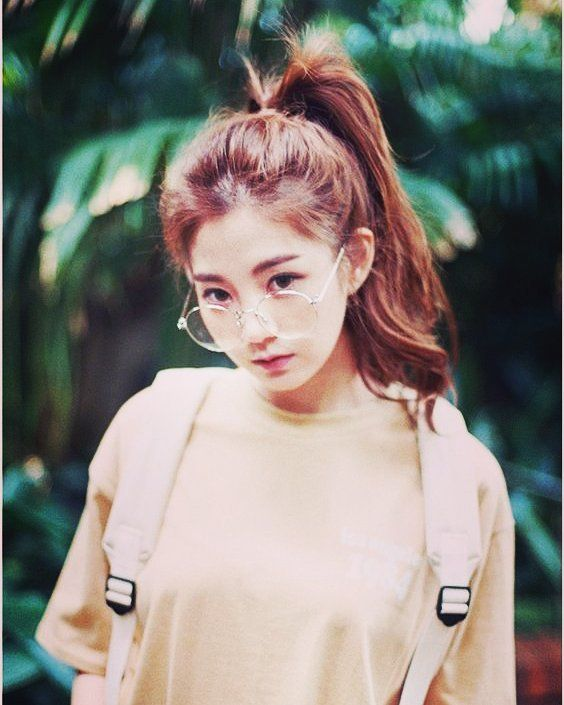 Nerdy Cute Asian Fashion Girl