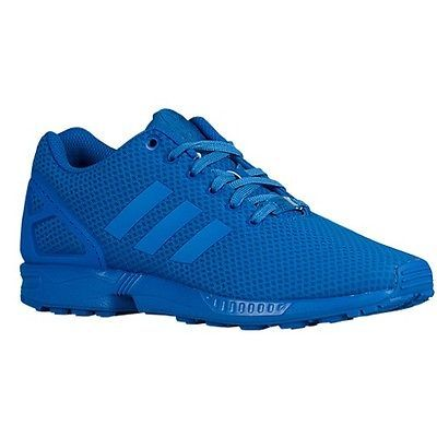 finest selection f5bfa c42d2 Adidas-ZX-Flux-All-Blue-Monochrome-Torsion-Originals-Xeno -Mens-Mono-Bluebird-NEW