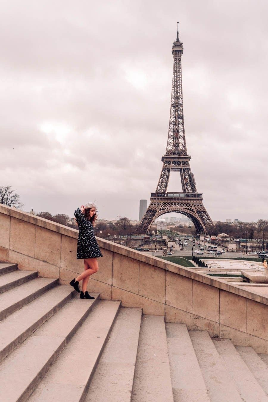 This Is The Most Famous Street In The City Of Paris Its Tree Lined Sidewalks Sweep From The Location De La Eiffel Tower Trocadero Paris Eiffel Tower Pictures