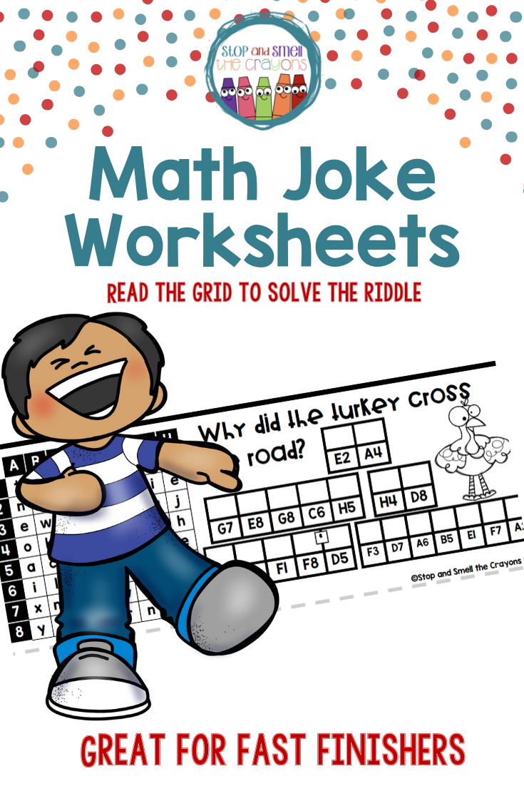 Math Jokes Grid Math Jokes Teaching Grade Math