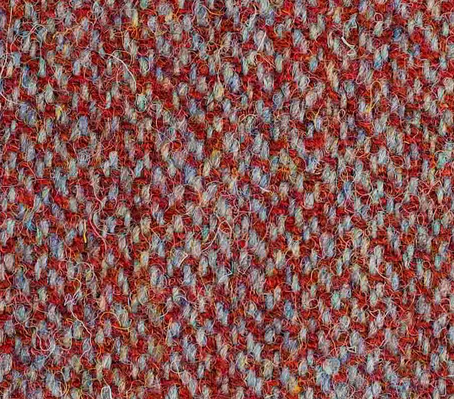 Dark Red and Silver harris tweed