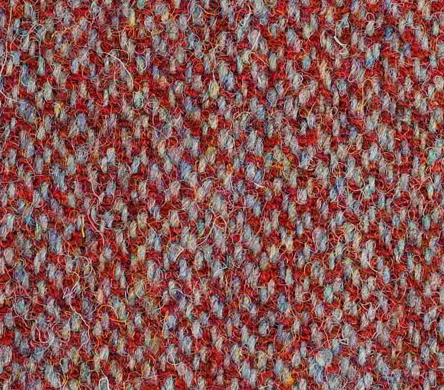 Dark Red and Silver harris tweed