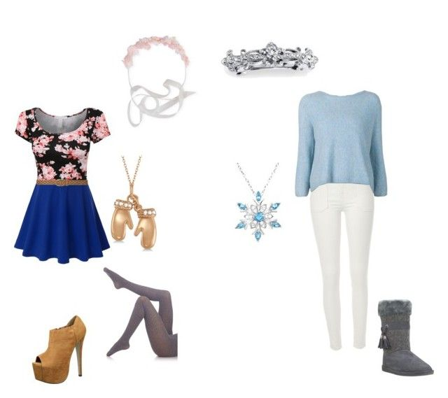 Anna and Elsa by saaaamgames on Polyvore featuring polyvore, fashion, style, 3.1 Phillip Lim, Fogal, River Island, Doublju, Allurez, Amanda Rose Collection, MAISON MICHEL PARIS, 1928 and Dorothy Perkins