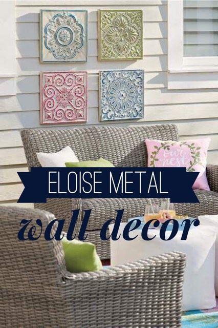 Eloise metal wall decor outdoor decor garden sitting area front porch