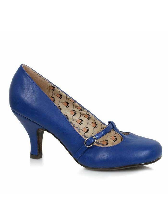 T-strap Pumps | Blue shoes heels