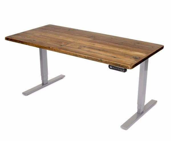 Uplift 900 Sit Stand Desk With Reclaimed Wood Top