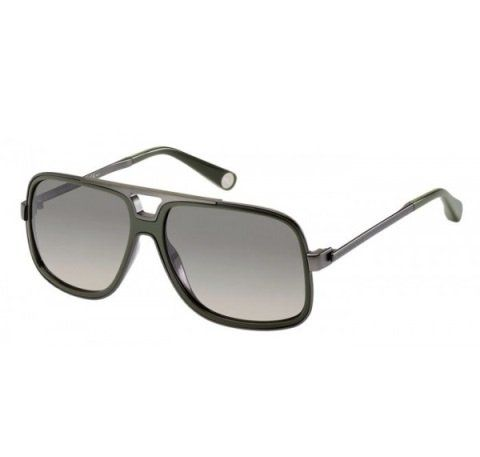 329b15472c4 Marc Jacobs Men s 513 Fashion Dna Matte Dark Ruthenium   Green Frame Grey  Gradient Lens Metal Sunglasses