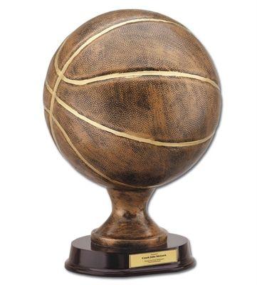 Bronzestone Basketball Replica Trophy Basketball Trophies Basketball Awards Fantasy Basketball