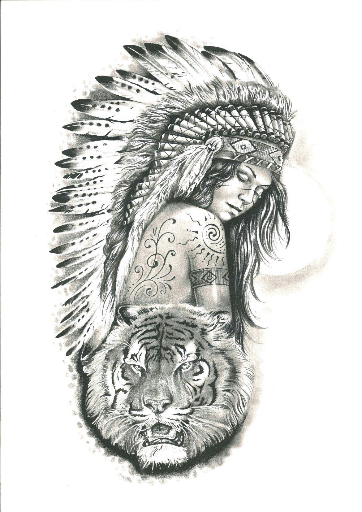 India Tattoo Tigre Desenho Tatuagem Tatuagens Indigenas
