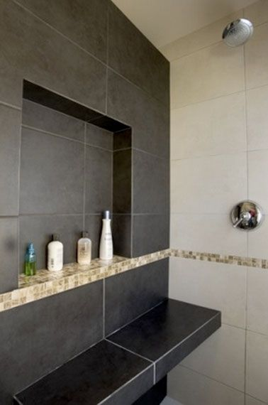 Grande niche de rangement dans salle de bain italienne Interiors