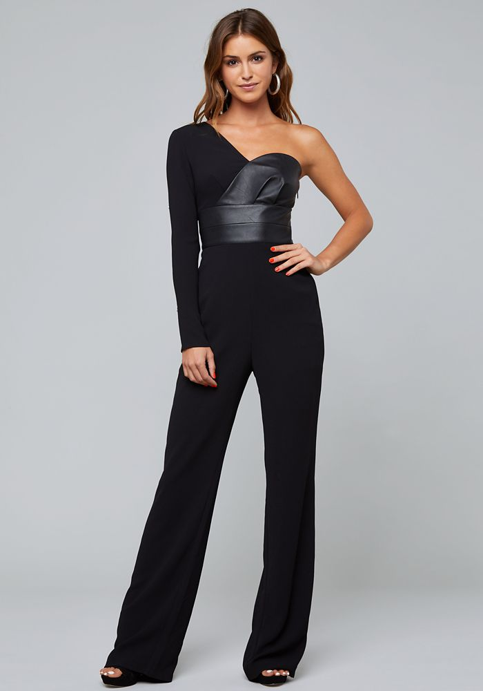 324d2cf0a42 Bebe Women s One Shoulder Jumpsuit