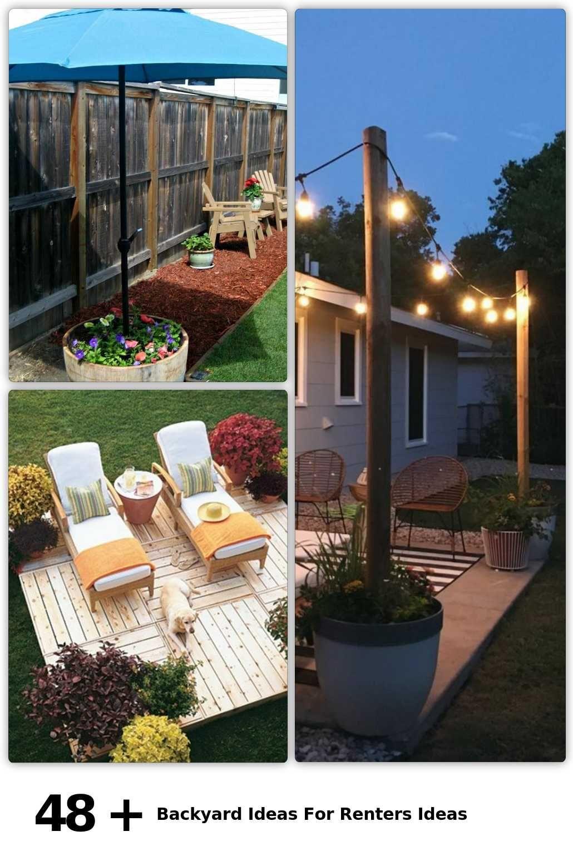 21 Backyard Ideas For Renters Ideas in 21  Outdoor decor
