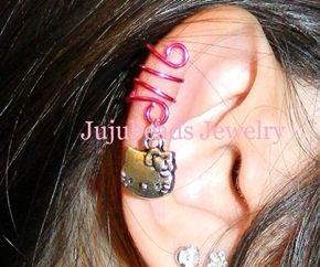 Hello Kitty Ear Cuff @ http://www.jujubeads-jewelry.com