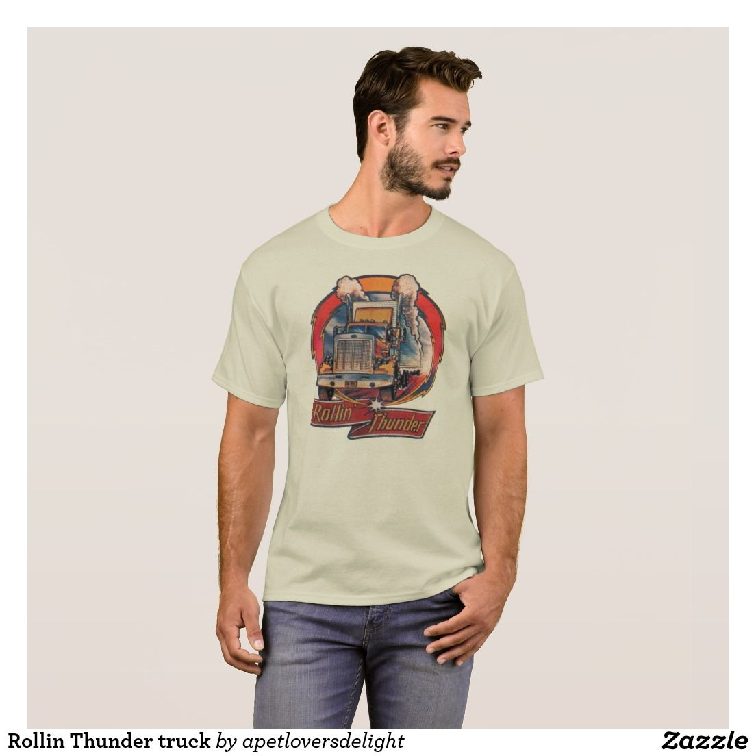 Rollin Thunder truck T-Shirt   T shirt, Shirt designs, Shirts