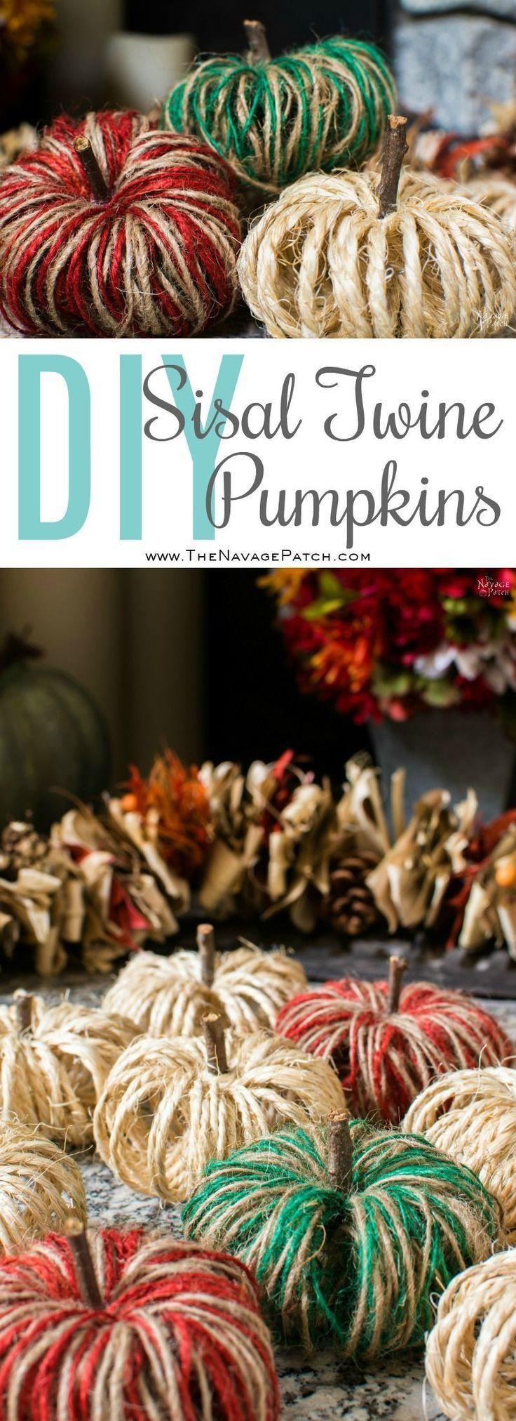 DIY Sisal Twine Pumpkins - A 5 Minute Craft - The Navage ...