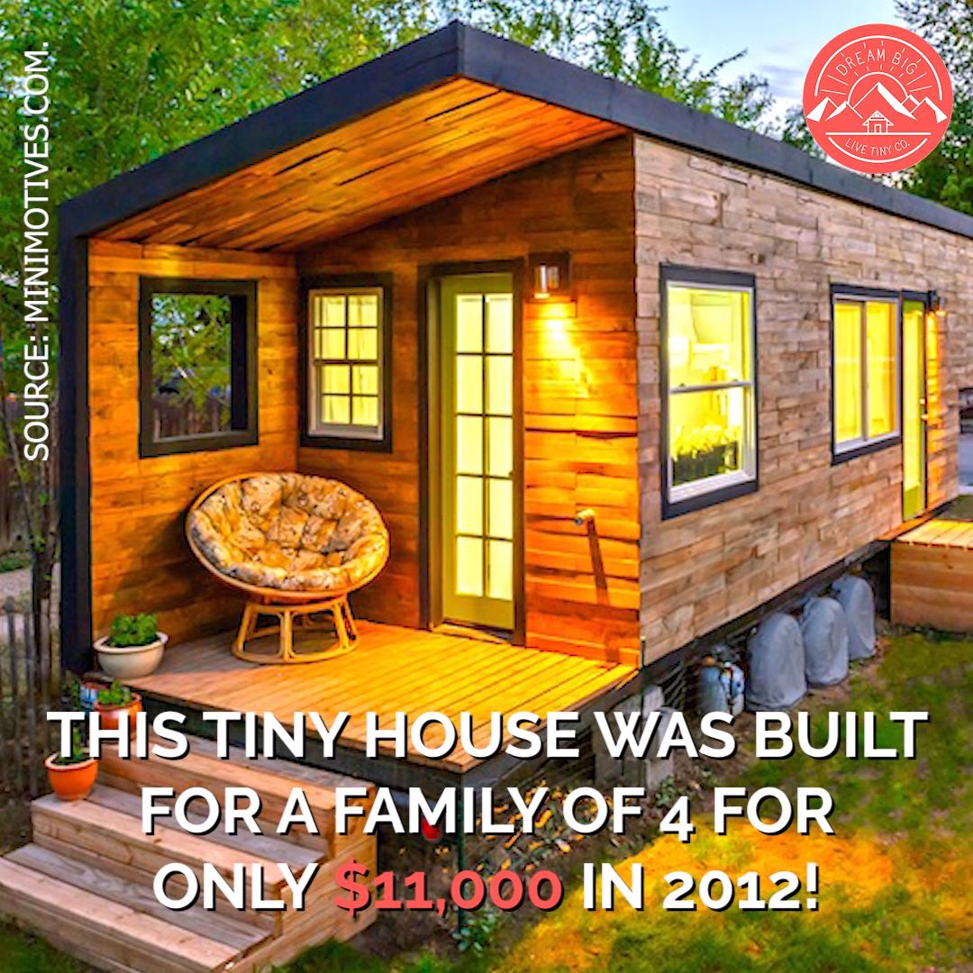Photo of Piccola casa di 232 mq per una famiglia di 4 persone costruita per soli $ 11.000!