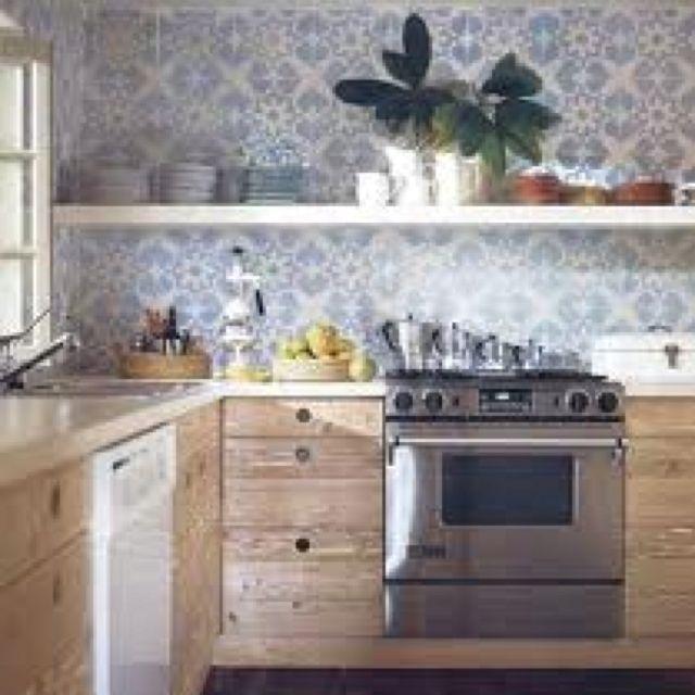 Tiled wall Kitchen Dreams Pinterest Kitchens and Walls
