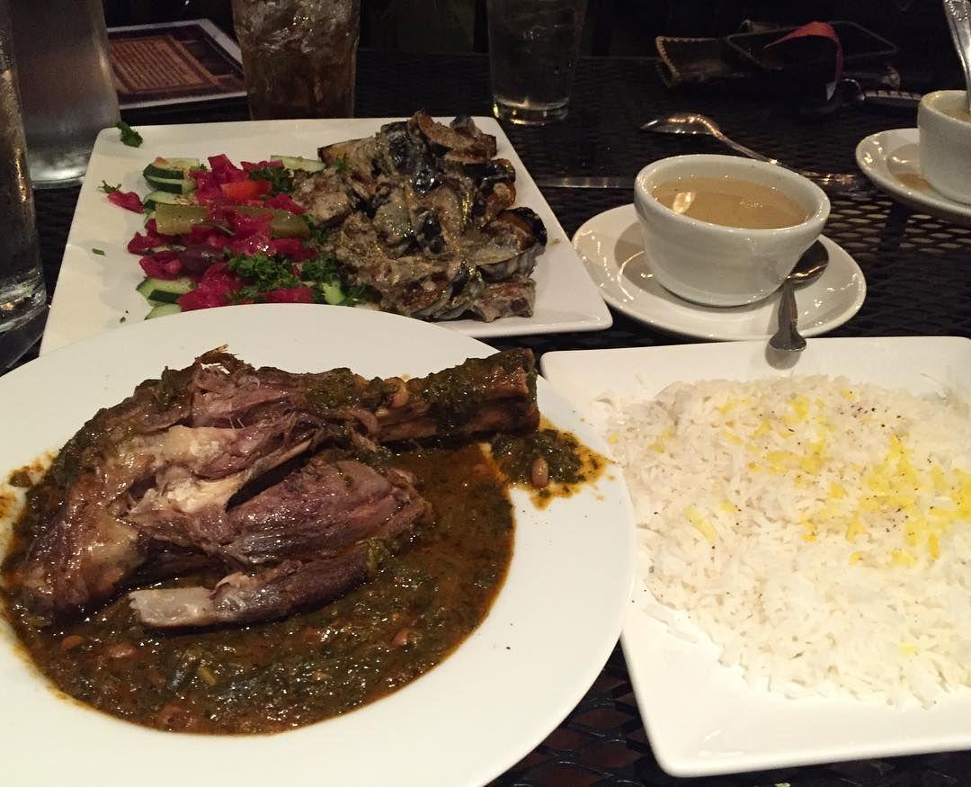 Lamb Shank #FallOffTheBone, Grilled Eggplant, and Lentil Soup.