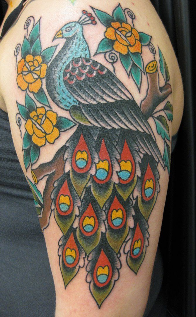 Done By Tristan Bradshaw In Denton Tx At Aces Tattoo I Love My Artist Peacock Tattoo Ace Tattoo Tattoos