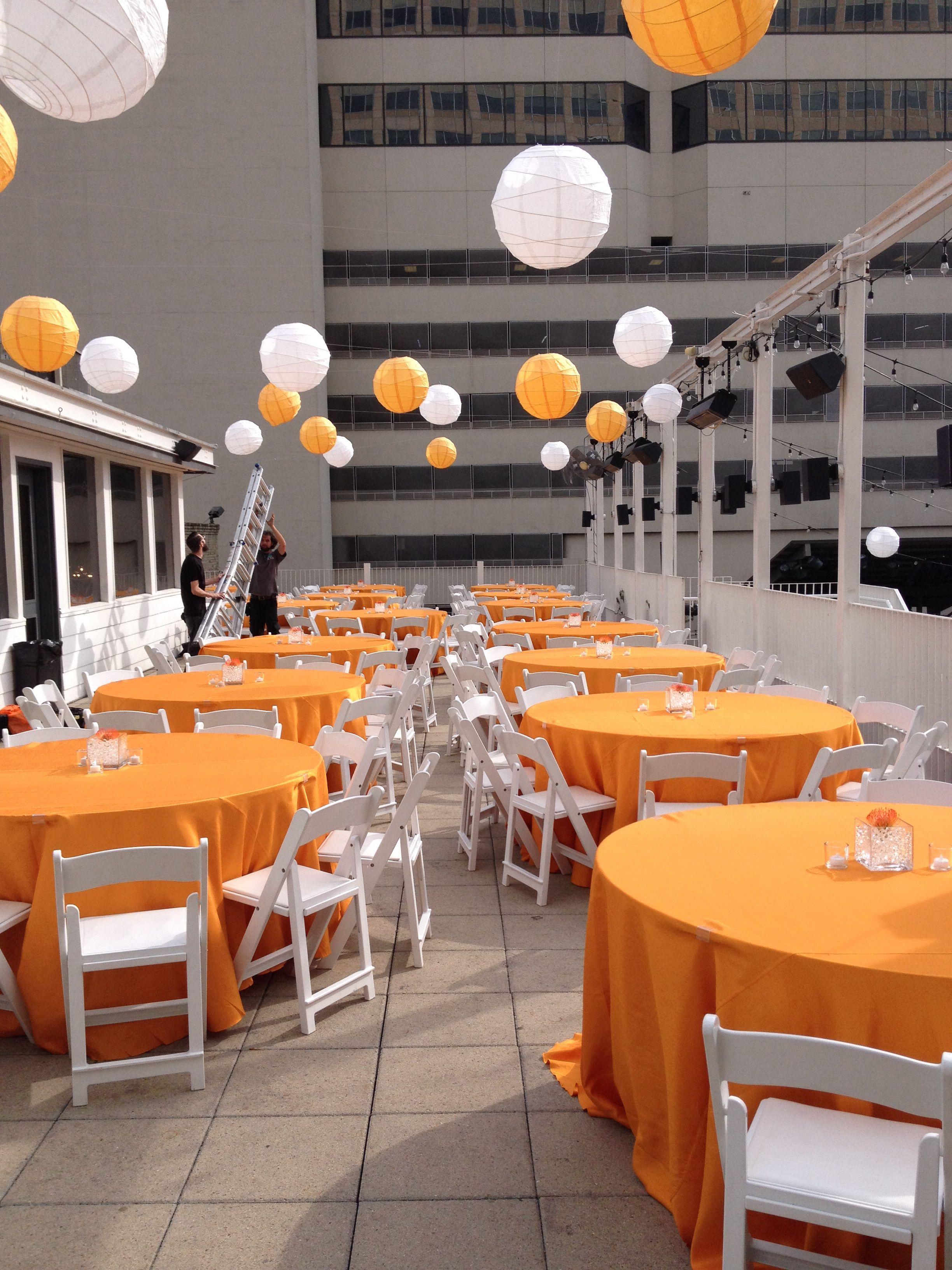 Orange And White Party Theme White Party Theme White Party
