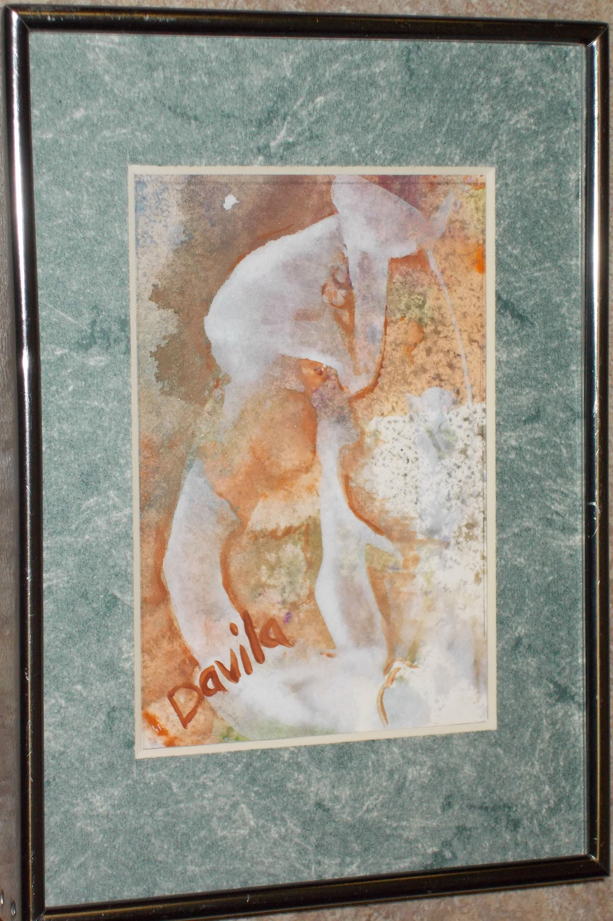 Original Champagne Floral abstract watercolor painting hand painted ...