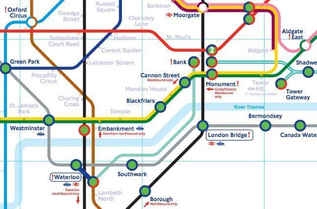 London Underground Map London Underground London Unterirdische