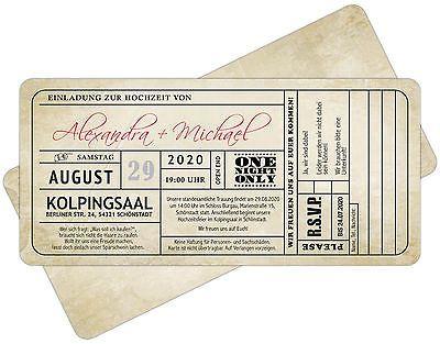details zu vintage einladungskarten zur hochzeit • eintrittskarte, Einladungsentwurf