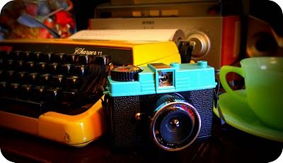 Typewriters and old school cameras!