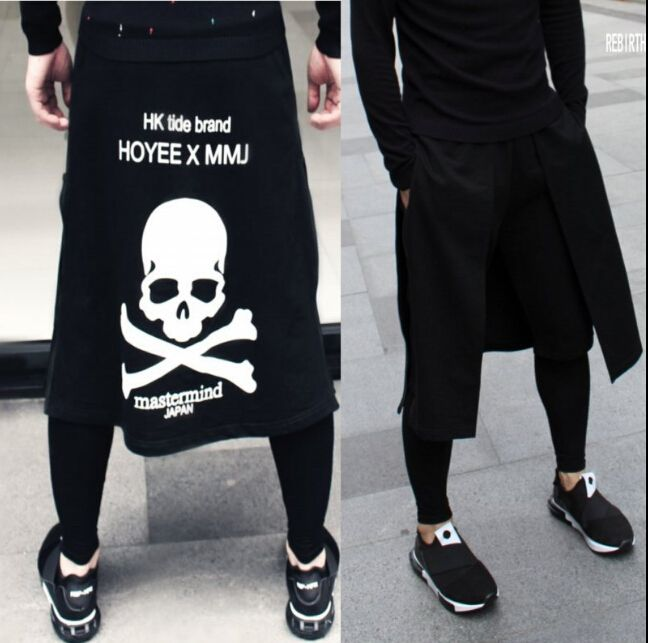 Aliexpress.com : Buy 2016 Dj personalized men's clothing culottes boot cut jeans tidal current costumes skirt novelty harem pants casual pants 27 36 from Reliable pants accessories suppliers on Excellent products  | Alibaba Group