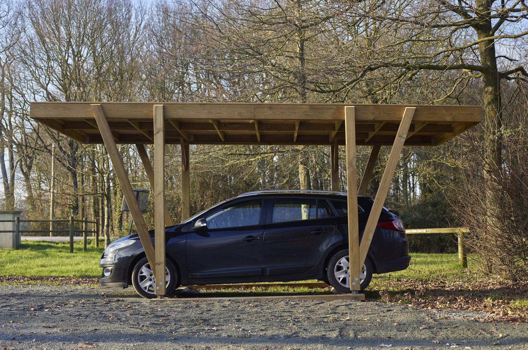 Carport en bois pour voitures Carport bois, Voiture en