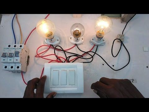 Two Way Switch Connection Type 3 In Tamil Two Way Switch Wiring Diagram Youtube Family House Plans Light Switch House Interior