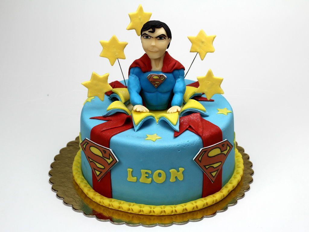 Superman Man Of Steel Kids Birthday Cake London Uk Httpwww