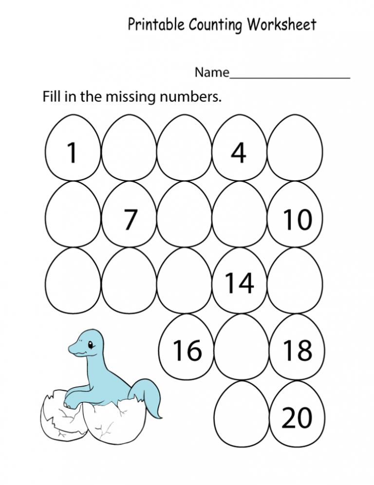 Introductory Kindergarten Math Worksheets PDF