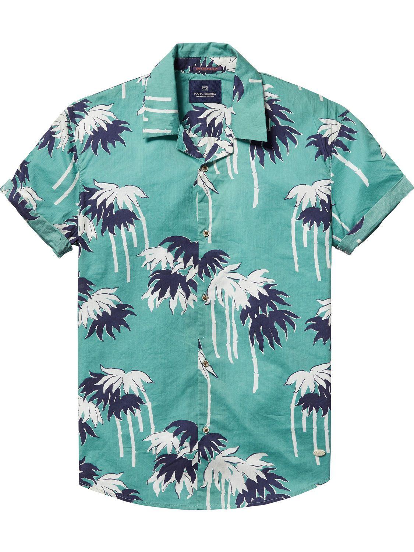 10ca4b6f Printed Hawaiian Shirt via Scotch & Soda | men's island style ...