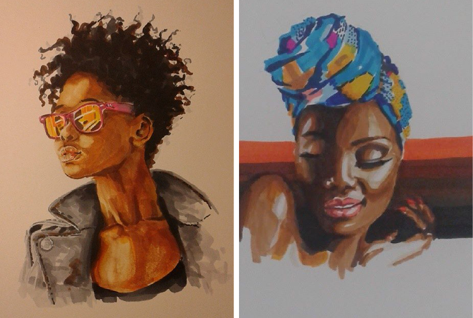 5 Odara: meet the artist that makes a homage to black women all over Brazil  Muha is the artistic name of the artist that is enchanting us with his strokes full of poetry  By Diane Lima