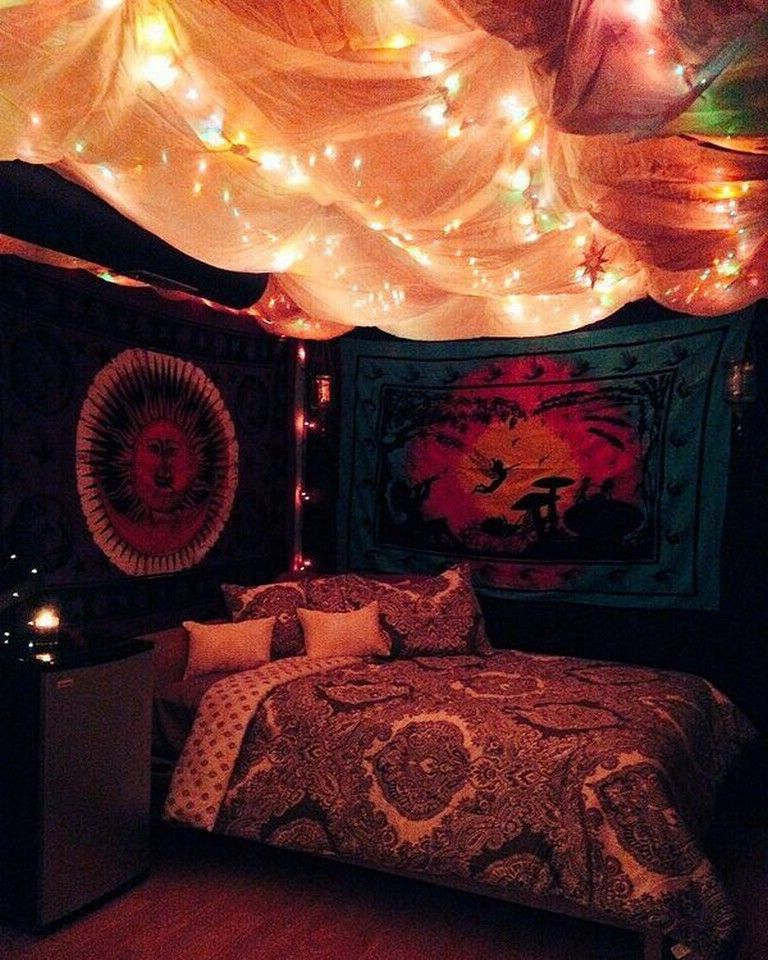 20 Awesome Hippie Bedrooms Ideas Page 6 Of 24 In 2020 Hippy Bedroom Hipster Bedroom Hippie Bedroom Decor