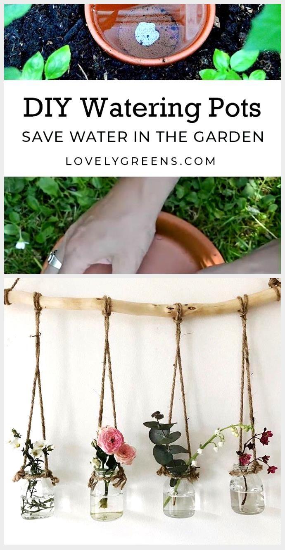 Sparen Sie Wasser im Garten mit DIY Watering Pots  Garden yard ideas Garden pr Sparen Sie Wasser im Garten mit DIY Watering Pots  Garden yard ideas Garden pr