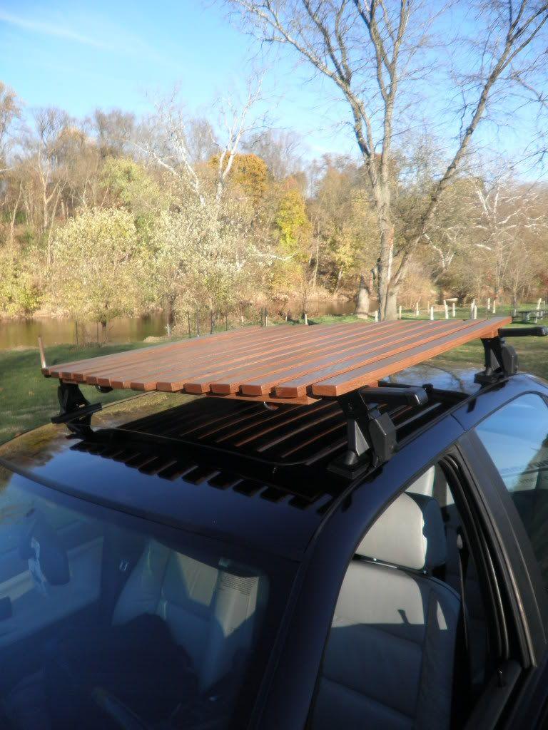 Roof Rack Wood Functional Diy Roof Rack Roof Wood Roof