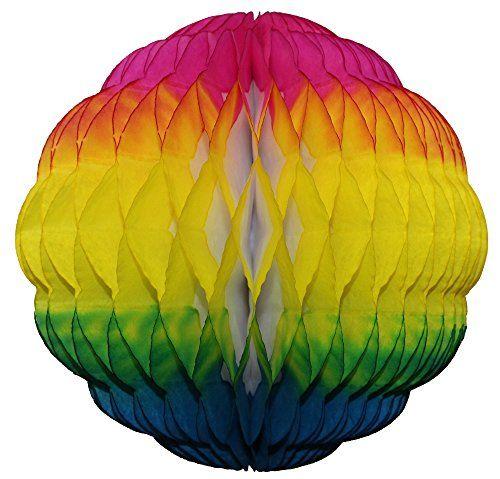 "3-pack 8"" Honeycomb Tissue Paper Puff Ball (Rainbow) Devra Party http://www.amazon.com/dp/B01DBDUVRY/ref=cm_sw_r_pi_dp_x1N8wb19R4JNT"